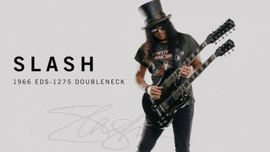 Gibson Slash 1966 EDS-1275 Doubleneck - Signed/Aged Double Your Appetite - HIENDGUITAR.COM