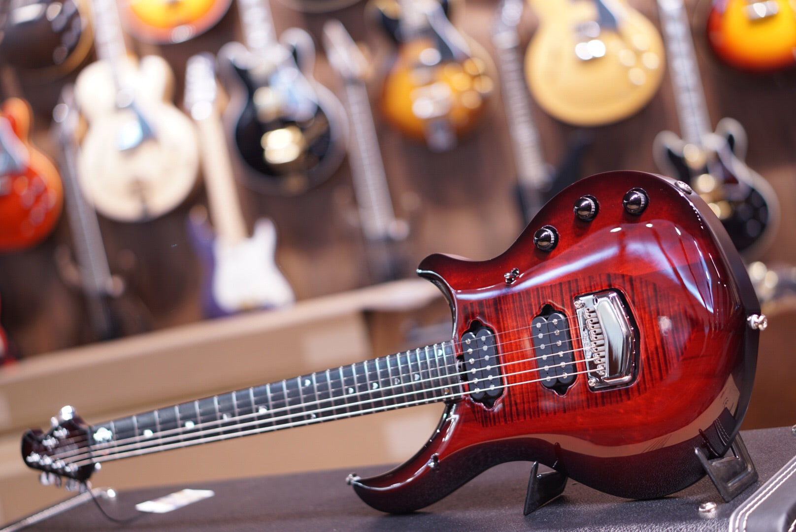 Music Man John Petrucci Majesty Monarchy In Royal Red Musicman - HIENDGUITAR.COM