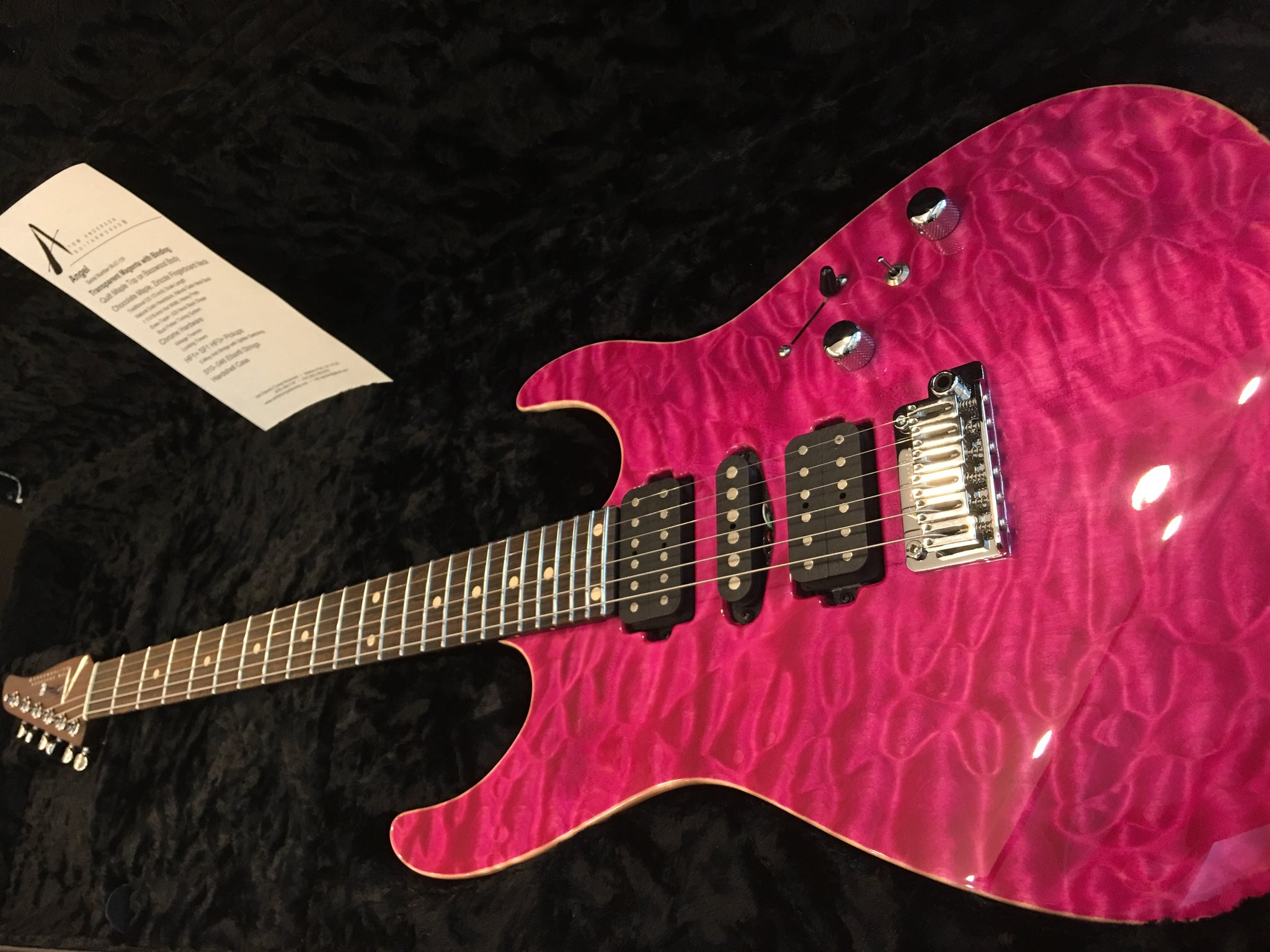 Anderson Drop top Magenta quilt