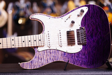 Anderson drop top classic purple surf with binding Anderson - HIENDGUITAR.COM