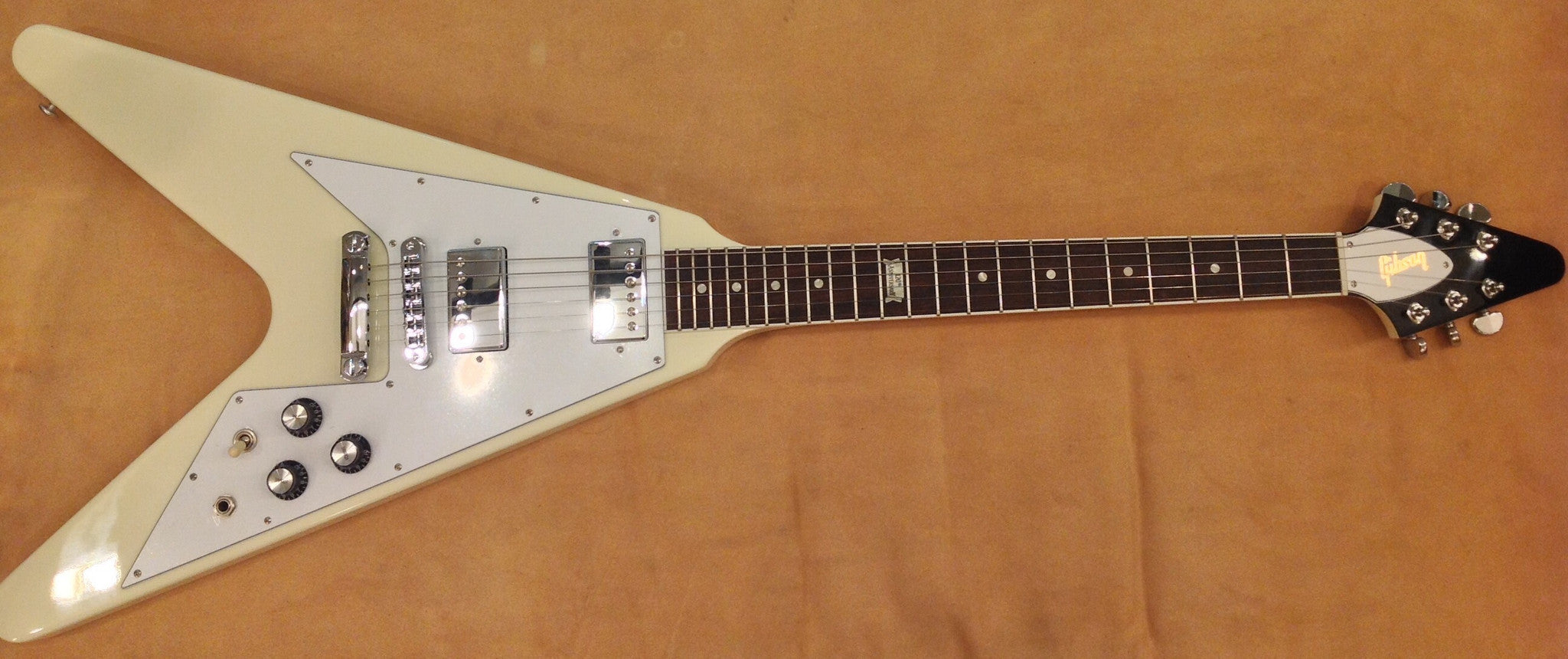 Gibson Flying V 120 Cream - HIENDGUITAR   Gibson GUITAR