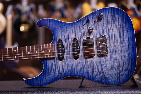 Anderson drop top natural jack blue burst