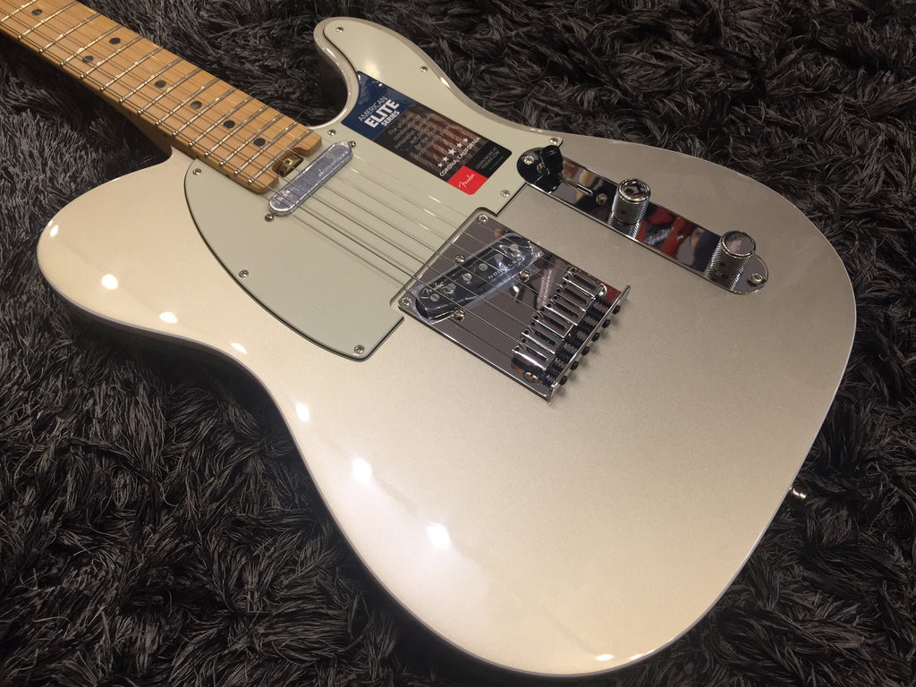 Fender American Elite Telecaster - Champagne with Maple Fingerboard