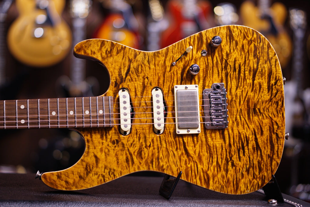 tom Anderson guitar drop top tiger eye
