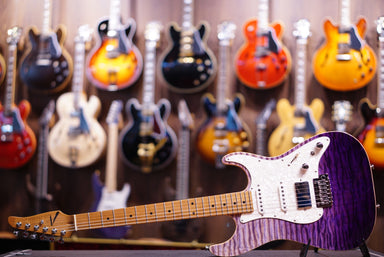 Anderson drop top classic purple surf with binding Hollow - HIENDGUITAR   Anderson GUITAR