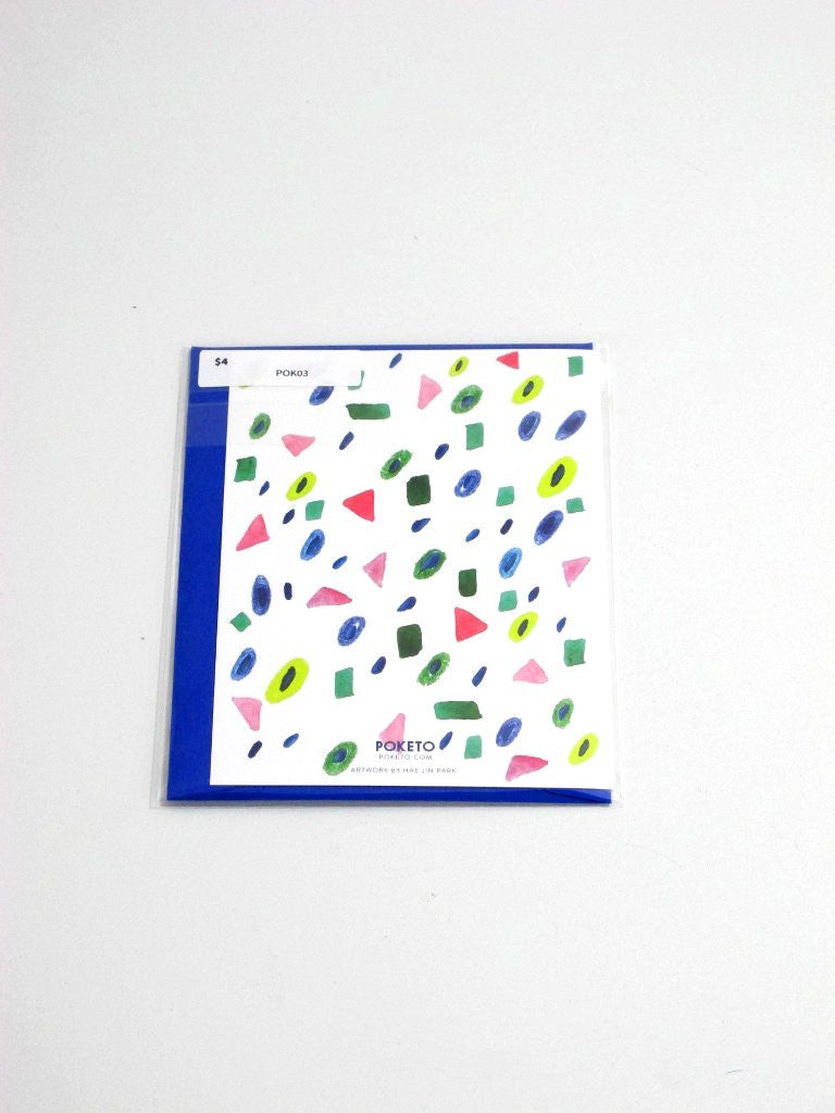 Abstract Gems Poketo Blank Card