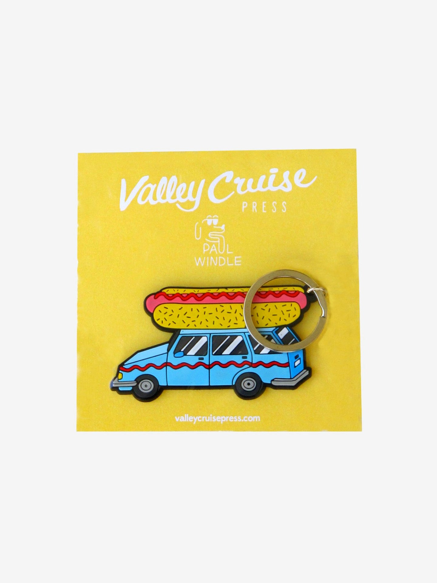 Hot Dog Car Keychain Valley Cruise Press x Paul Windle