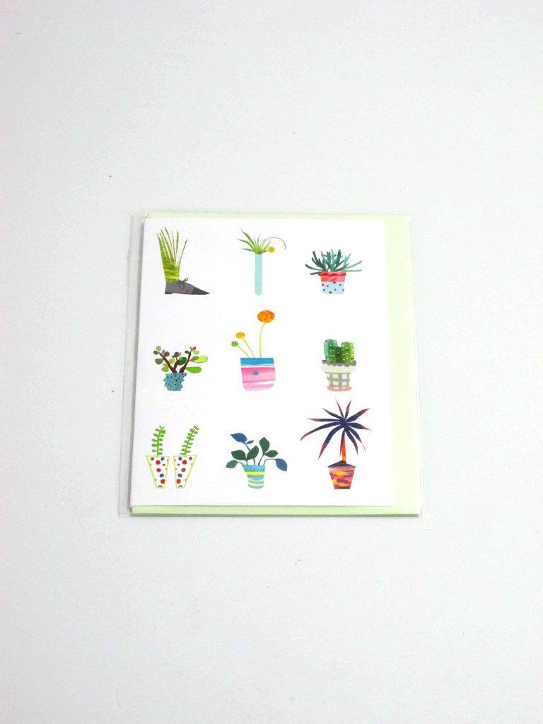 Potted Plants Poketo Blank Card