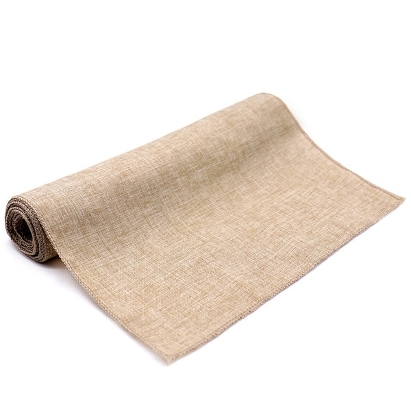Rustic Table Runner Natural Feux Linen Table Cloth - Mia & Stitch