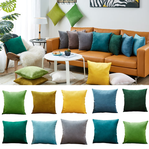 26colors Pillow Cover Velvet Cushion Cover For Living Room Sofa 45*45 Kussenhoes Blue Home Decorative Mia & Stitch - Mia & Stitch