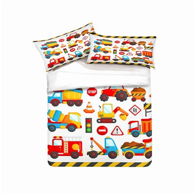 Bedding set, Construction vehicle. kids' gift, Duvet cover set Home Textiles super king/king/queen/twin/full - Mia & Stitch