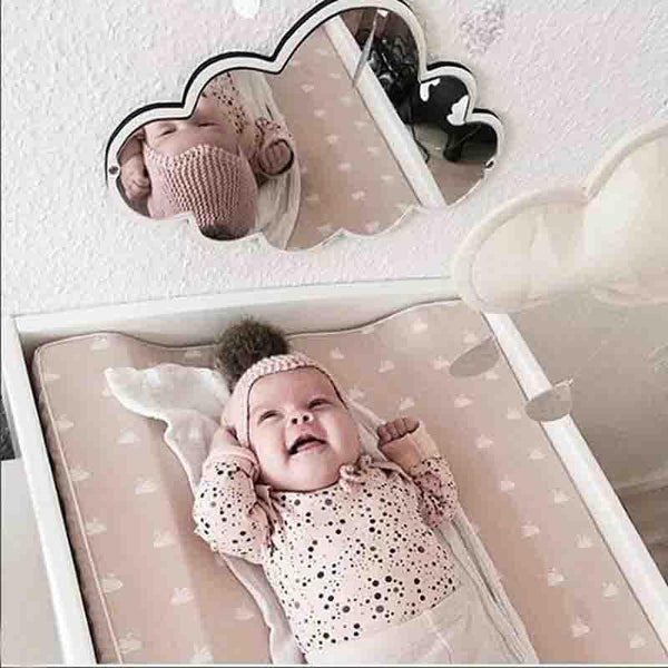 Children Decorative Mirror Baby Room Rabbit Bowknot Wall Frame Creative Home Art Decoration - Mia & Stitch