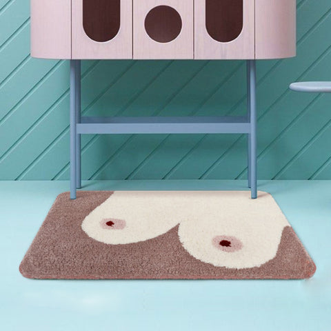 Funny Bathroom Boobs Floor Mat - Mia & Stitch