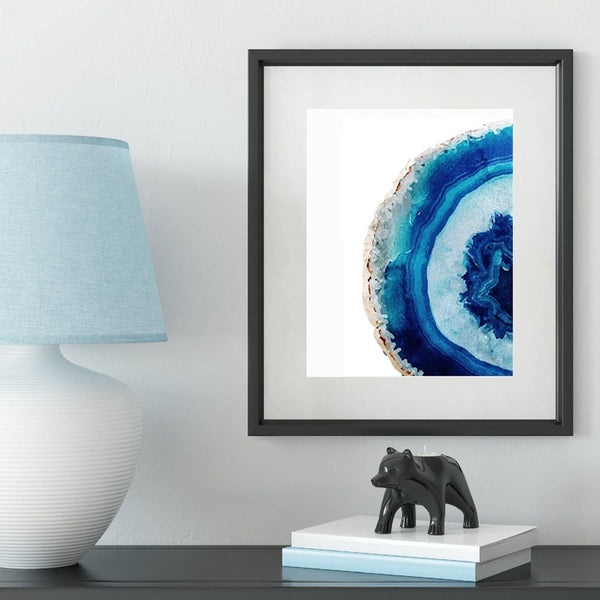 Blue Agate Poster Wall Art - Mia & Stitch