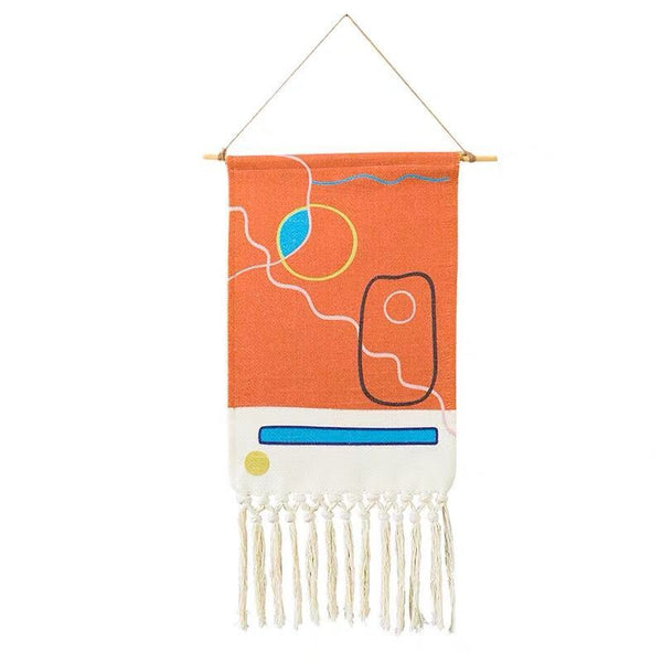 Boho Hanging Tapestry Fabric Home Decoration Accessories Watt-hour Meter Box Cover Dormitory Hotel Wall Hanging Blanket Decor - Mia & Stitch