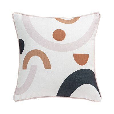 Cushion Cover Bedding Decorative Pillow Case Modern Nordic Simple Pink Geometric Blend Coussin Home Office Store Decor - Mia & Stitch