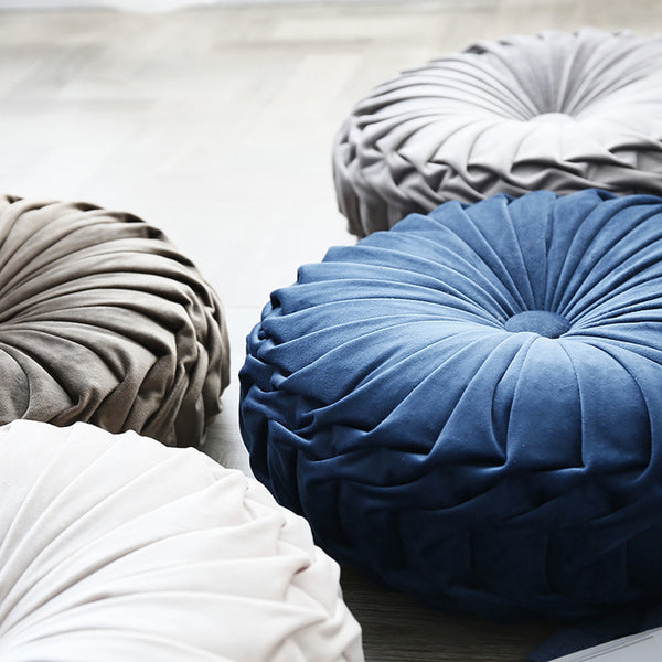 Luxury Velvet Solid Round Throw Pillow Cushion Cover - Mia & Stitch