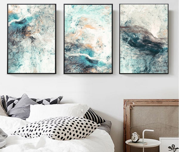 Modern Simplicity of Abstract Canvas Paintings Modular Pictures Poster Wall Art Canvas for Living Room Decoration No Framed - Mia & Stitch