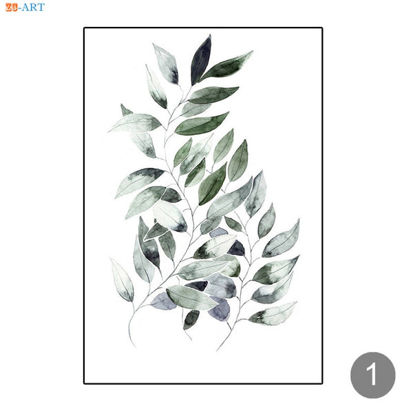 Leaf Prints Cactus Poster Botanical Wall Art Minimalist Canvas Painting Wall Pictures for Living Room Nordic Decoration Home - Mia & Stitch