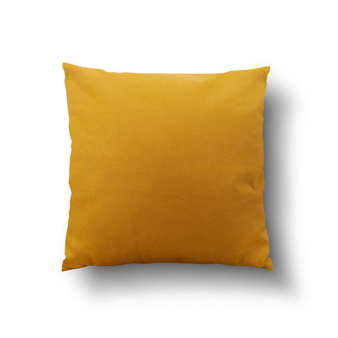 Cushion Cover - Solid Mustard Yellow Cotton Linen Mix - Mia & Stitch