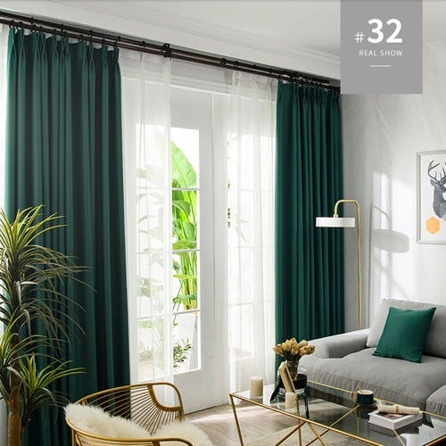 Mia & Stitch Blackout Curtains For Living Room Window Curtains Kitchen Modern Thick Curtains Window treatment Home Decoration - Mia & Stitch