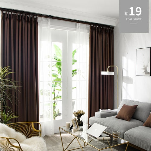 LISM Blackout Curtains For Living Room Window Curtains Kitchen Modern Thick Curtains Window treatment Home Decoration 1 - Mia & Stitch