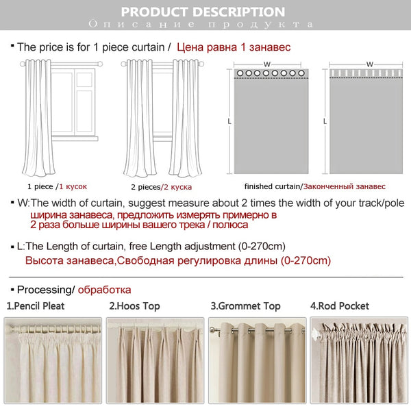 Linen 100% Blackout Curtains For Kitchen Bedroom Window Treatment  Solid Water Proof Curtains for Living Room Custom Made 1 - Mia & Stitch
