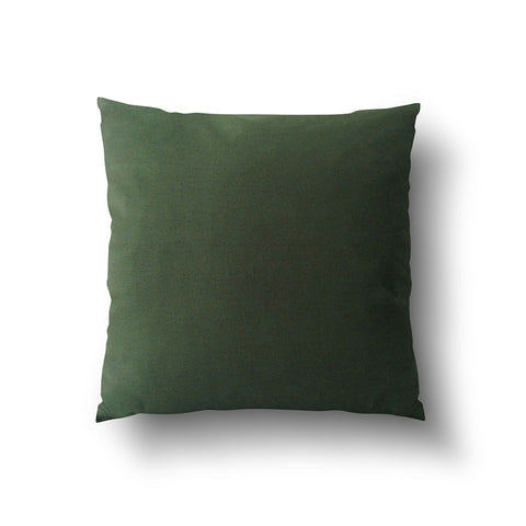 Cushion Cover - Solid Dark Green Cotton Linen Mix - Mia & Stitch