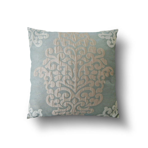 Cushion Cover - Damask Baby Light Blue & Cream - Mia & Stitch