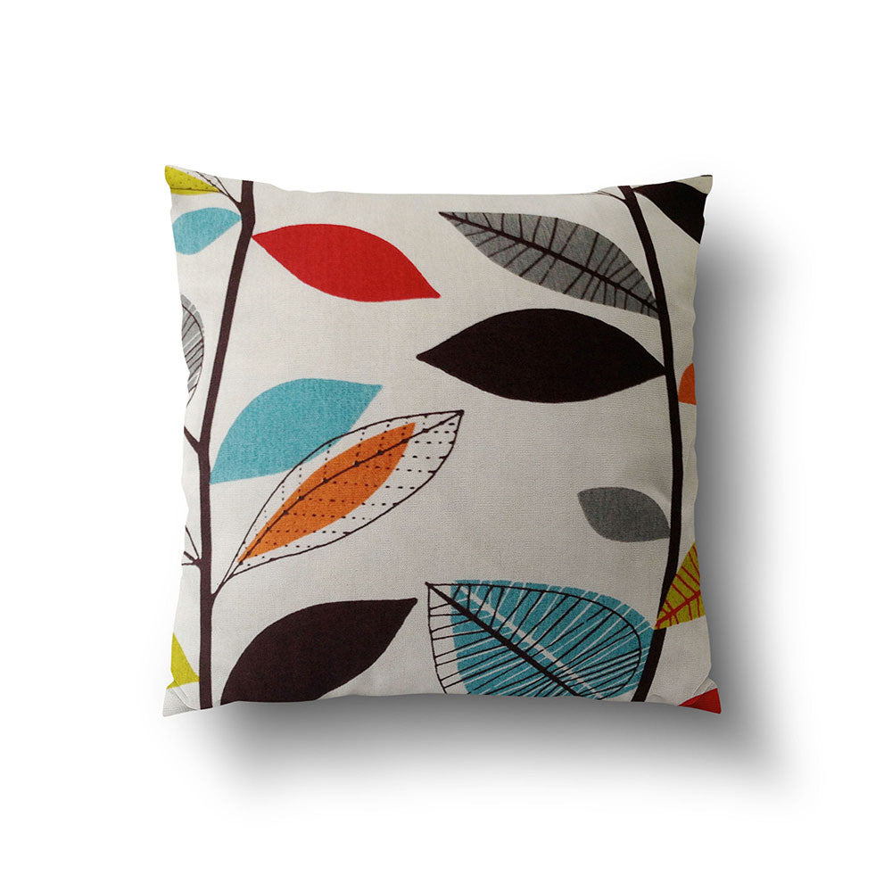 Cushion Cover - Retro Colorful Floral on Off White Background - Mia & Stitch