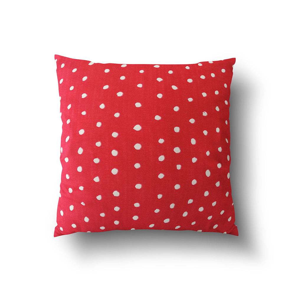 Cushion Cover - Red and White Dotty designed by Nani Iro - Mia & Stitch
