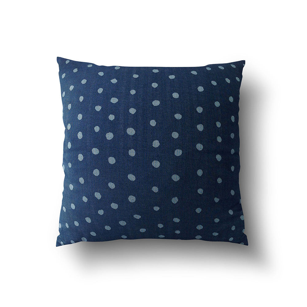 Cushion Cover - Dark Blue with Light Blue Dots designed by Nani Iro - Mia & Stitch