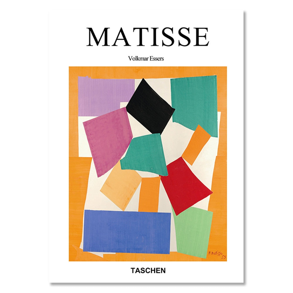 Matisse Vogue Posters And Prints Abstract Geometric Colorful Wall Art Canvas Painting Pictures For Living Room Home Decor - Mia & Stitch