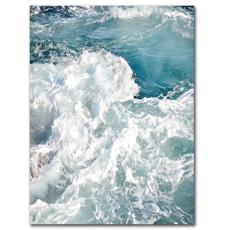Ocean Wave Landscapes Canvas Painting Seascape Nordic Posters and Prints Home Decoration Living Room Wall Art Pictures Unframed - Mia & Stitch