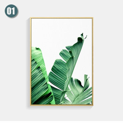 Poster Wall painting Posters And Prints Leaf Wall Art Canvas Painting Scandinavian Wall Pictures For Living Room Unframed - Mia & Stitch