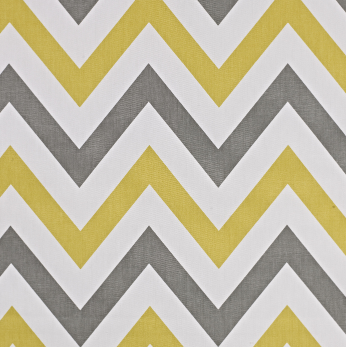 Half a Meter - Chevron Yellow and Grey Modern Home Décor Fabric - Mia & Stitch