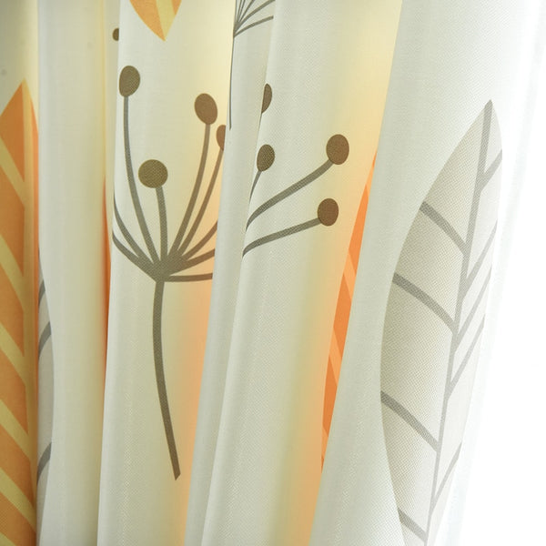 Single Panels Green Leaves Curtain Living Room Window Decoration Nordic Rustic Kitchen Curtains 3d - Mia & Stitch