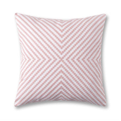 Embroidered Home Decorative Pillow Cover 45X45cm White Gray Pink Canvas Cotton Cushion Cover For Sofa Square Pillow Case - Mia & Stitch