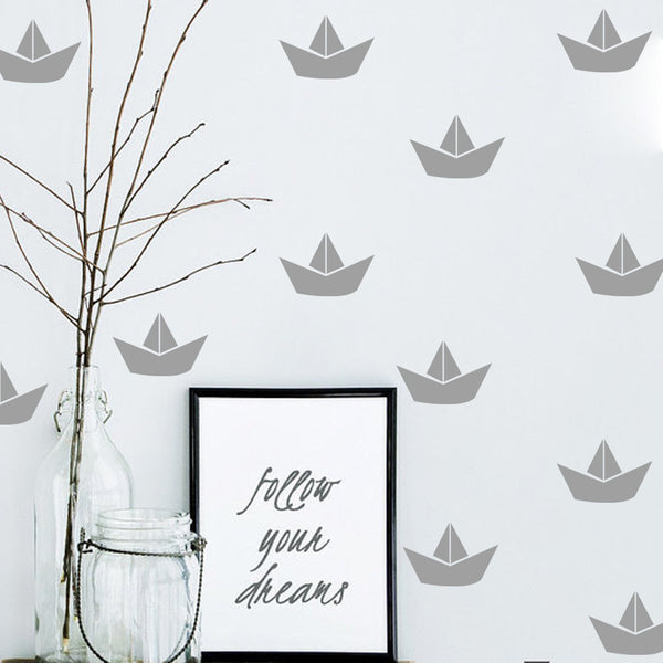 Boat Decal Gifts Boy Room Wall Art Decorative Poster Print Kids Decor - Mia & Stitch