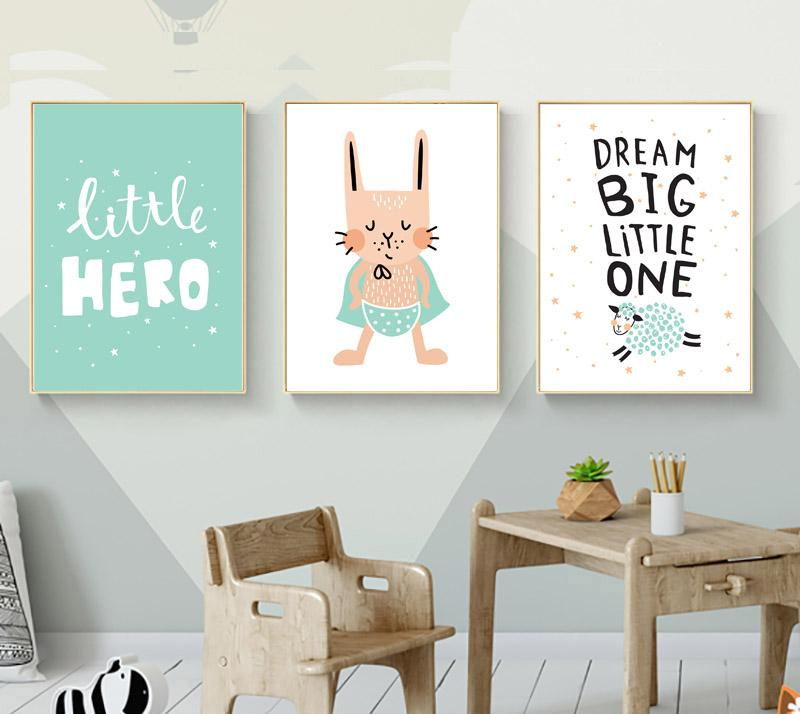Kids Hero Boys Gifts Wall Art Canvas Decorative Pictures Poster Print Wall Art Room Kids Decor - Mia & Stitch