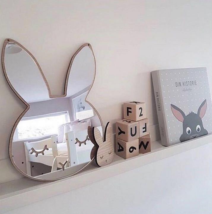 Rabbit Wall Mirror for Girls' rooms - Mia & Stitch