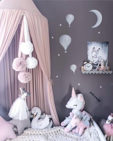 Princess Canopy Mosquito Net Curtain Girls Babies Toddlers Kids Room Decor - Mia & Stitch