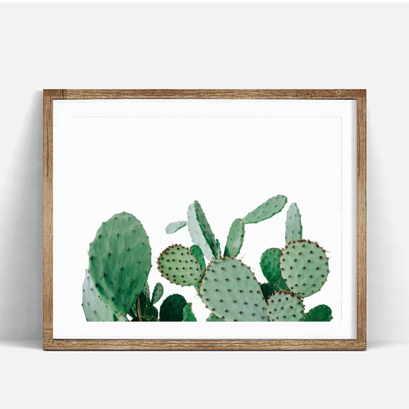 Cactus Plant Wall Art Canvas Decorative Pictures Poster Print Wall Art Room Decor - Mia & Stitch
