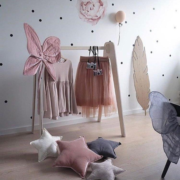 Wooden Clothing / Coat Rack for Kids Rooms - Mia & Stitch