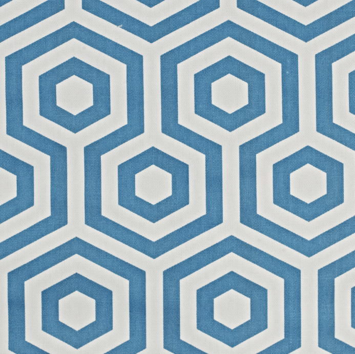 Half a Meter - Turquoise Blue Geometric Hexagonal Home Décor Curtain Fabric - Mia & Stitch
