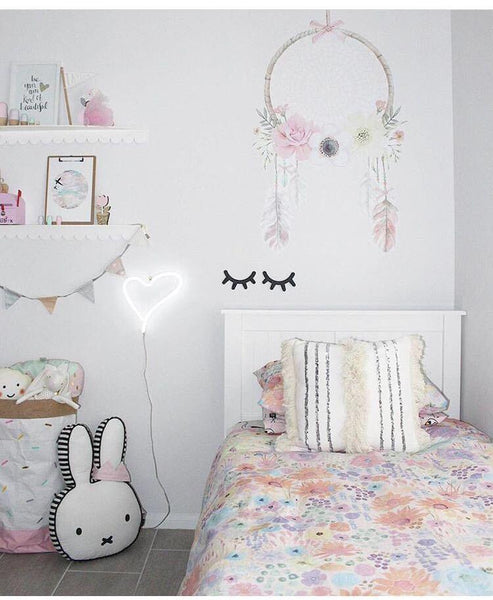 Eyelash Wooden Wall Decals Stickers - 2pcs - Mia & Stitch