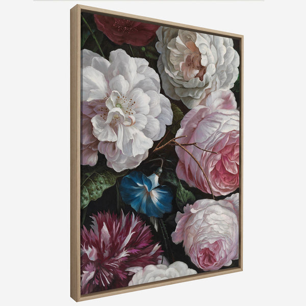 Floral Peonies Wall Art Canvas Decorative Pictures Poster Print Wall Art Room Decor - Mia & Stitch