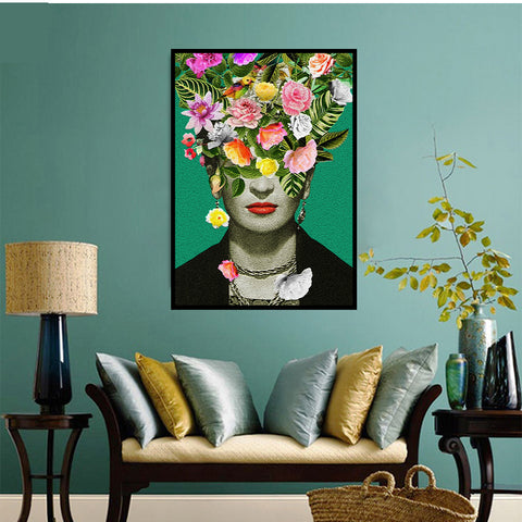 Frida Kahlo Wall Art Canvas Decorative Pictures Poster Print Wall Art Room Decor - Mia & Stitch