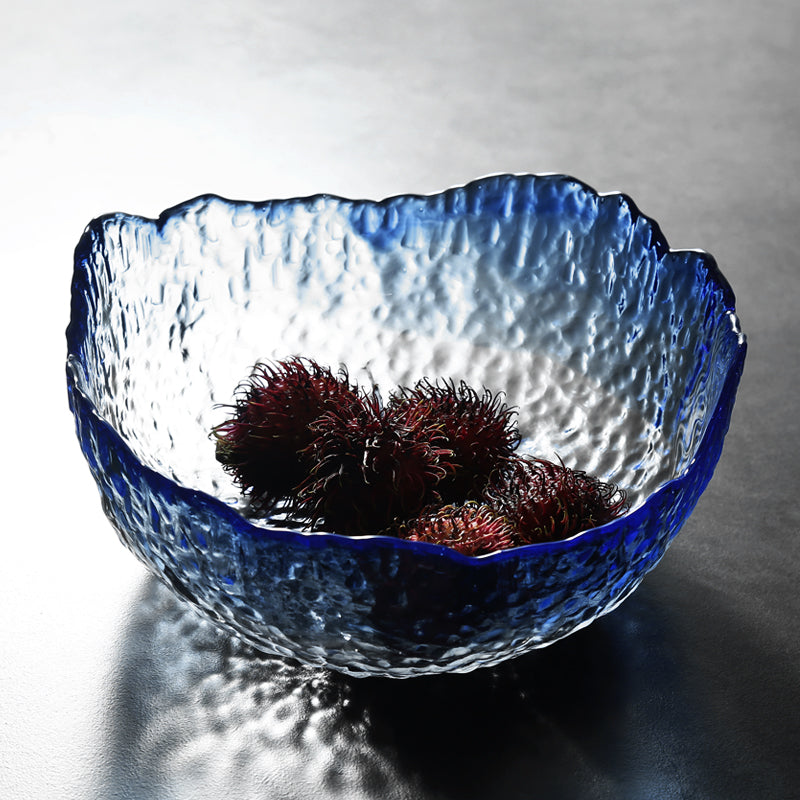 Textured Glass Salad Decorative Bowls Tableware Home Accessories