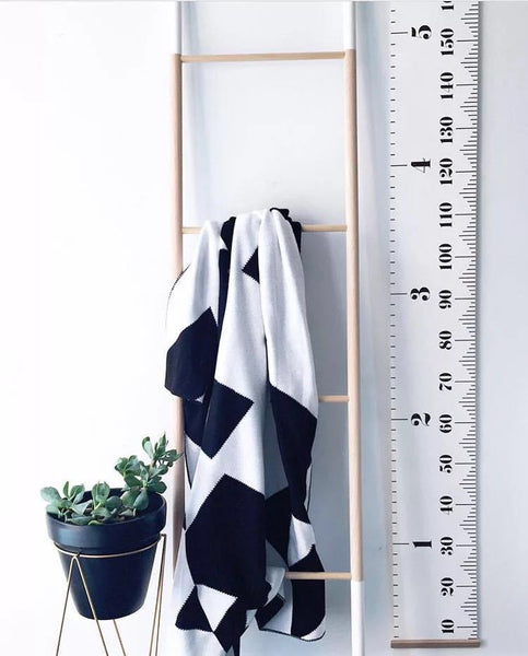 Hanging Ruler Height Chart Nursery Baby Kids Decor - Mia & Stitch